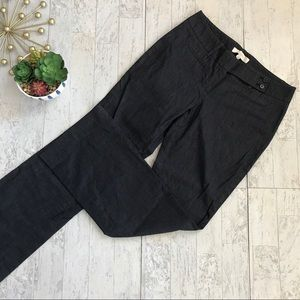 Ann Taylor Loft stretch denim straight leg pants 4